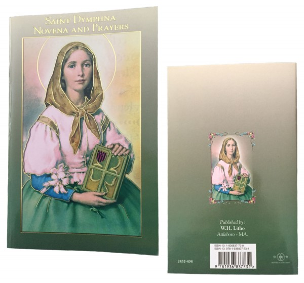 Saint Dymphna Novena Prayer Pamphlet - Pack of 10 - Green | Gold