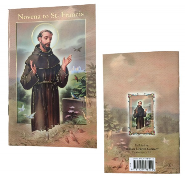Saint Francis of Assisi Novena Pamphlet - Pack of 10 - Full Color
