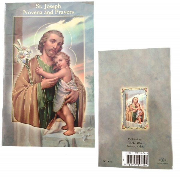Saint Joseph Novena Prayer Pamphlet - 10 Per Pack - Gray