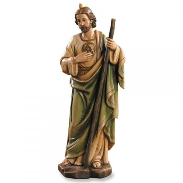 Saint Jude Statue 8 Inch High Statue - Full Color