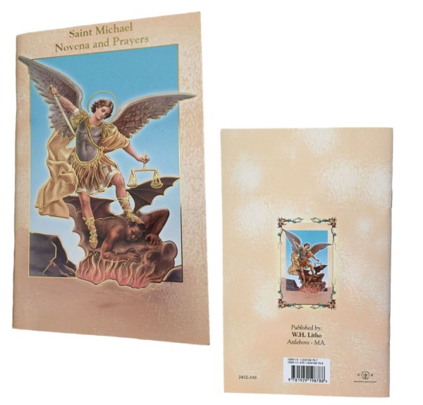Saint Michael Novena Prayer Pamphlet - 10 Per Pack - Brown | Gold