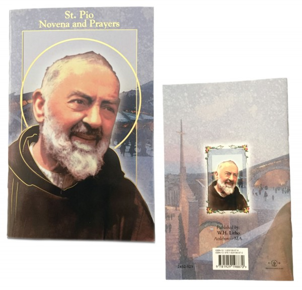 Saint Padre Pio Novena Prayer Pamphlet - 10 Per Pack - Full Color