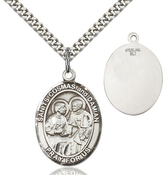 Saints Cosmas & Damian Medal - Sterling Silver