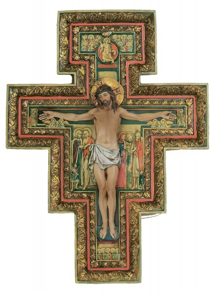 San Damiano Cross - 18 inch - Multi-Color