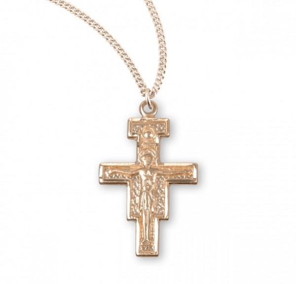 San Damiano Crucifix Pendant Sterling Silver - 4 sizes available - Gold Plated