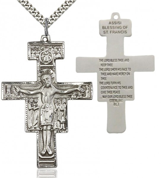 NEW SAINT DAMIANO  CRUCIFIX FROM ASSISI 925 STERLING SILVER