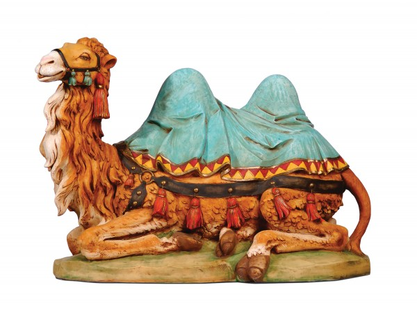 Seated Camel Figure for 27 inch Nativity Set - Multi-Color