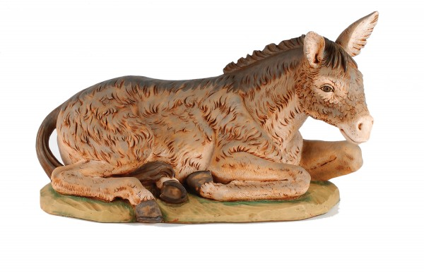 Seated Donkey Figure for 50 inch Nativity Set - Brown