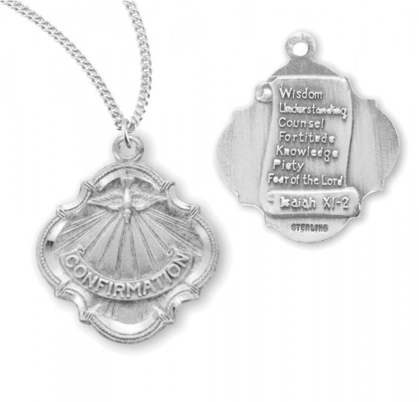 Seven Gifts of the Holy Spirit Confirmation Necklace - Sterling Silver