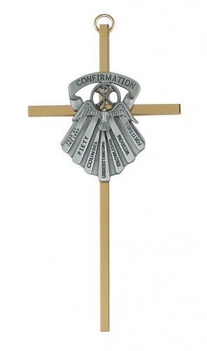 "Seven Gifts of the Holy Spirit 6"" Wall Cross - Two-Tone"