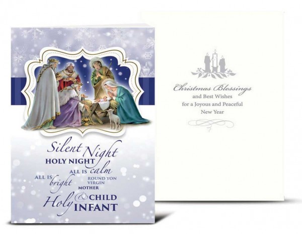 Silent Night Christmas Card Set - Full Color