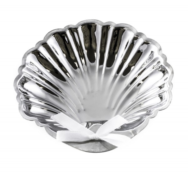 Silver Baptism Shell - 4 inch - Silver