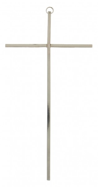 Silver Wall Cross - Silver tone