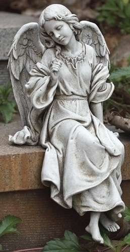Sitting Angel Garden Statue 12 34H from Catholic Faith Store