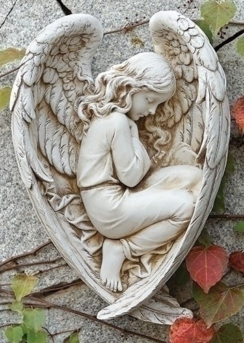 Sleeping Angel Garden Statue 12 14H from Catholic Faith Store