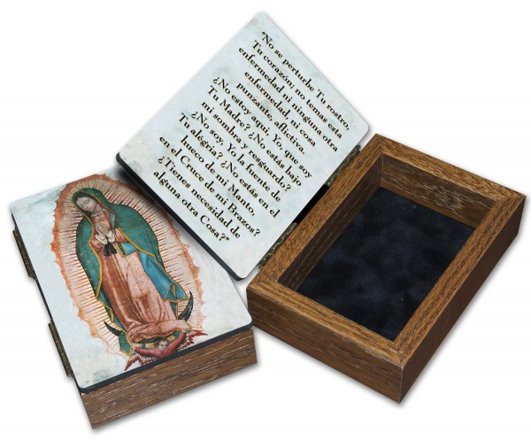 Spanish Our Lady of Guadalupe Keepsake Box - Full Color