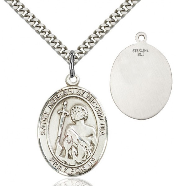 St. Adrian of Nicomedia Medal - Sterling Silver