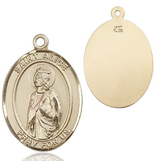St. Alice Medal - 14K Solid Gold