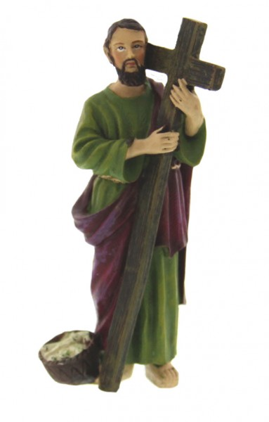 "St. Andrew Statue 4"" - Multi-Color Browns"