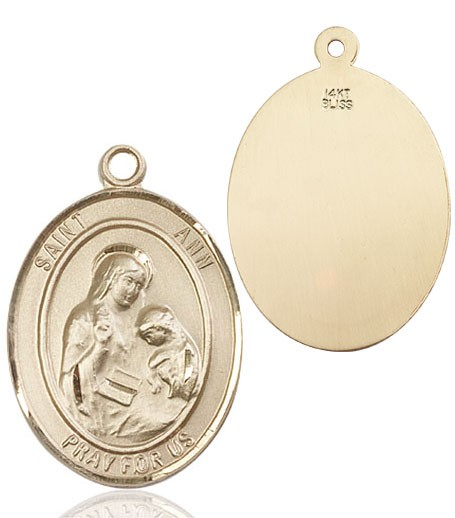 St. Ann Medal - 14K Yellow Gold