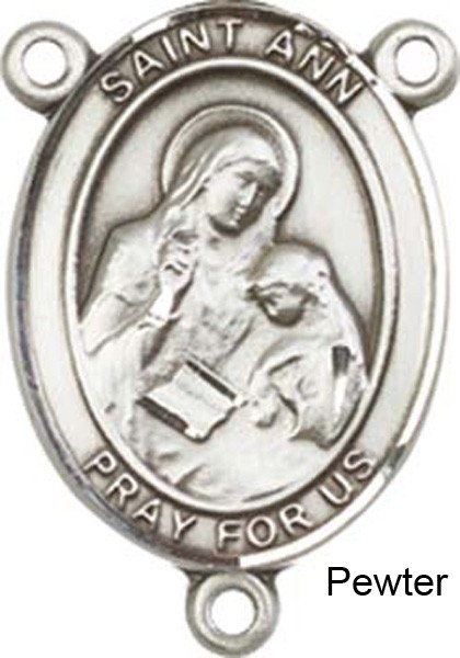 St. Ann Rosary Centerpiece Sterling Silver or Pewter - Pewter
