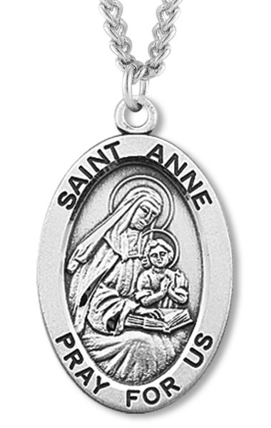 St. Anne Medal Sterling Silver - Sterling Silver