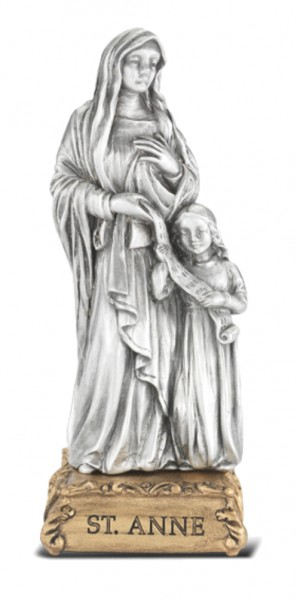 Saint Anne Pewter Statue 4 Inch - Pewter