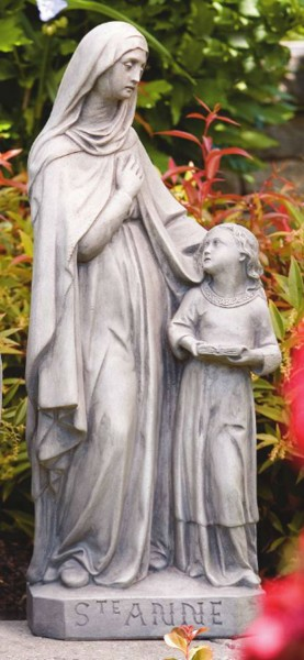 St. Anne Statue 24 inches - Old Stone Finish