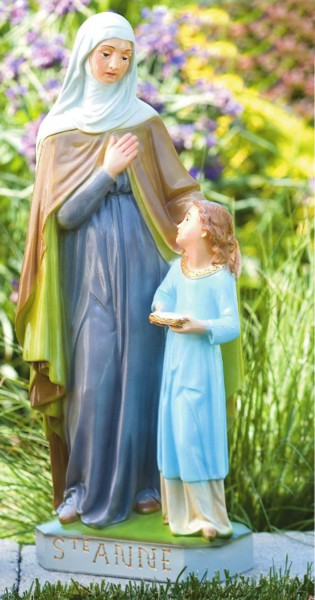 St. Anne Statue 24 inches - Detailed Color Finish