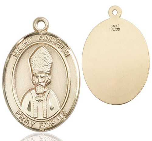 St. Anselm of Canterbury Medal - 14K Solid Gold