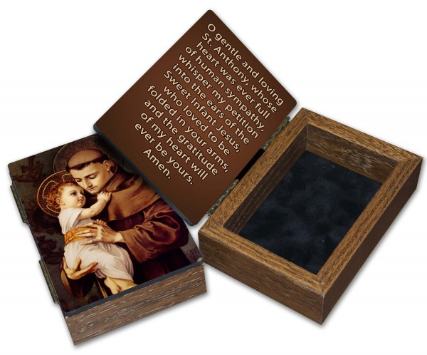 St. Anthony Keepsake Box - Brown