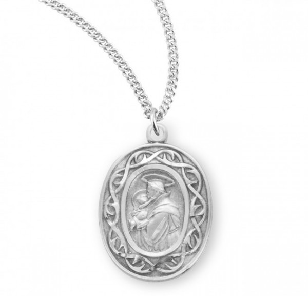 St. Anthony Oval Medal Sterling Silver - Silver