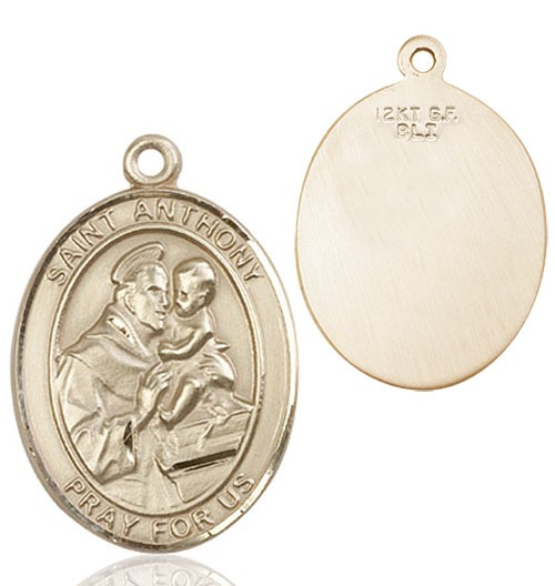 St. Anthony of Padua Medal - 14K Solid Gold