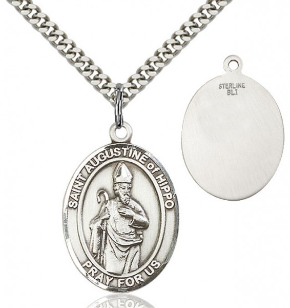 St. Augustine of Hippo Medal - Sterling Silver