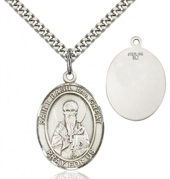 St. Basil the Great Medal - Sterling Silver