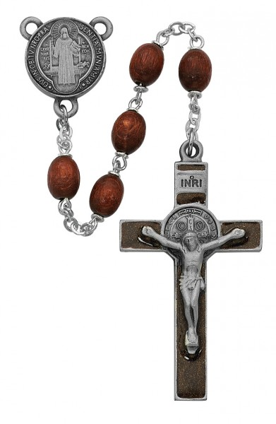 St. Benedict Rosary in Brown - Brown