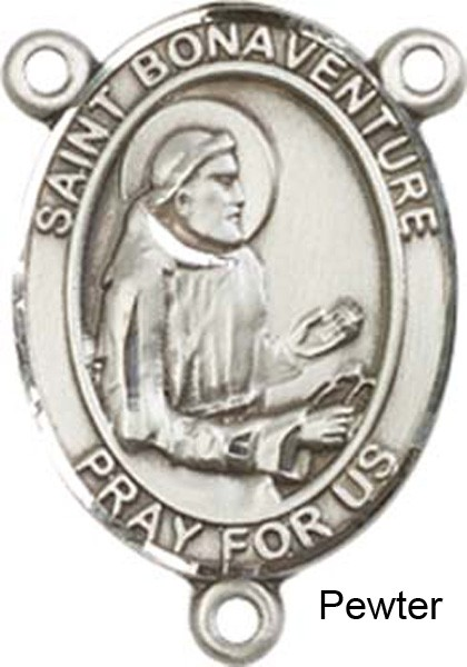 St. Bonaventure Rosary Centerpiece Sterling Silver or Pewter - Pewter