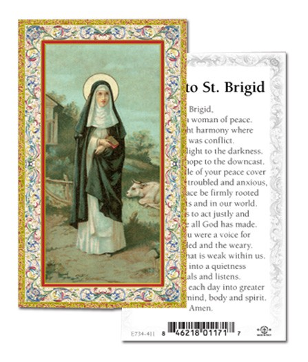 St. Brigid Prayer Cards 100 Pack - Full Color