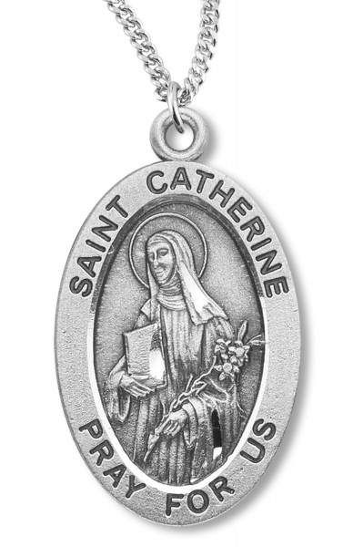 St. Catherine Medal Sterling Silver - Sterling Silver