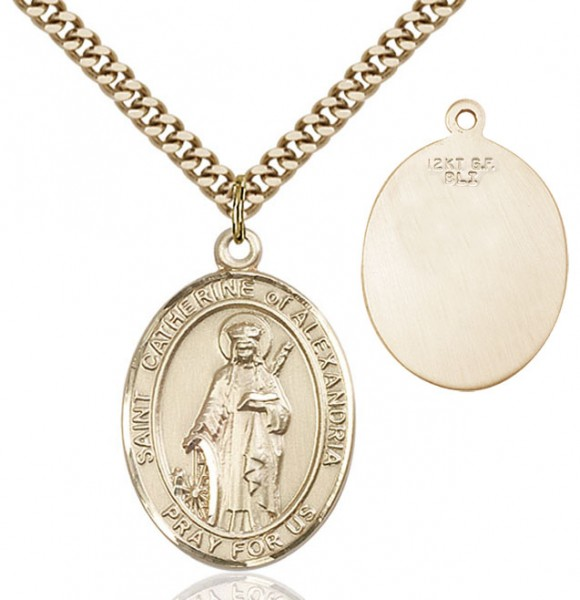 St. Catherine of Alexandria Medal - 14KT Gold Filled
