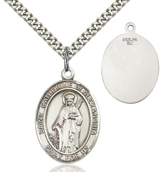 St. Catherine of Alexandria Medal - Sterling Silver