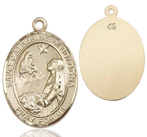 St. Catherine of Bologna Medal - 14K Yellow Gold