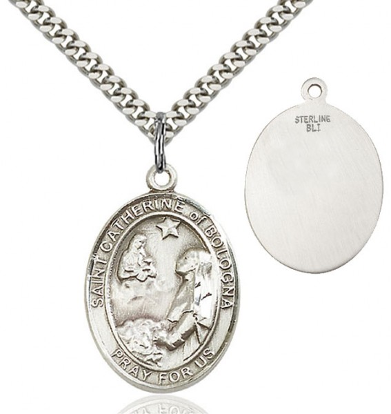 St. Catherine of Bologna Medal - Sterling Silver