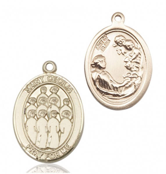 St. Cecilia Choir Medal - 14K Yellow Gold
