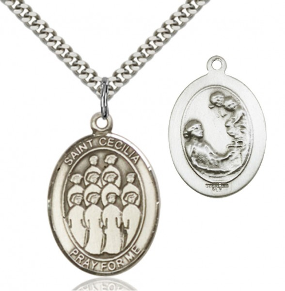 St. Cecilia Choir Medal - Sterling Silver