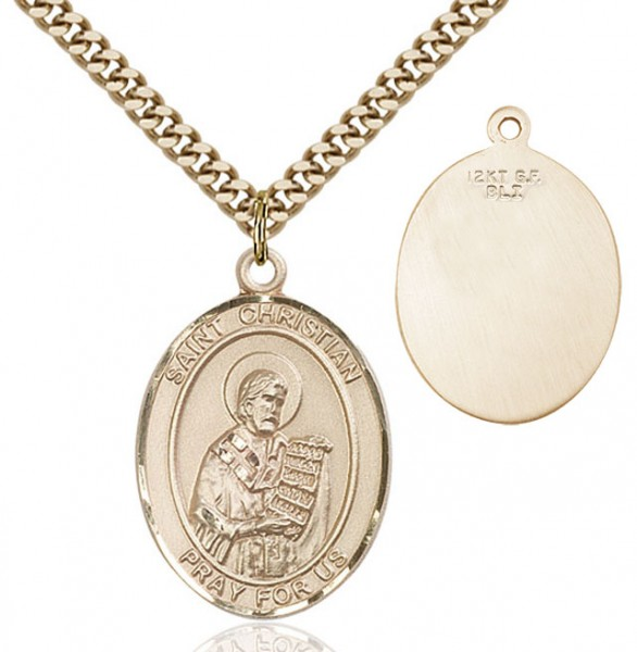 St. Christian Demosthenes Medal - 14KT Gold Filled