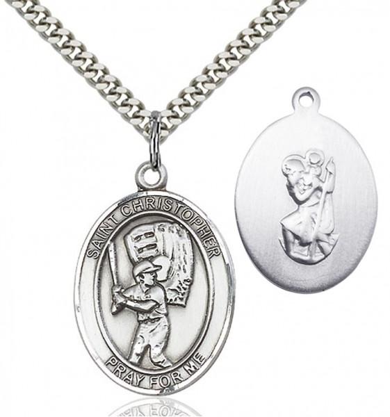 St Christopher Baseball Medal