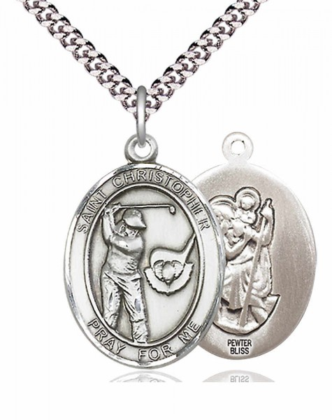 St. Christopher Golf Medal - Pewter