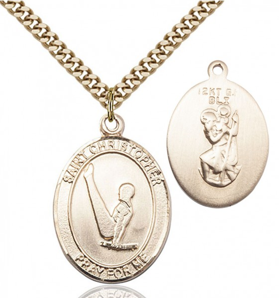 St. Christopher Gymnastics Medal - 14KT Gold Filled
