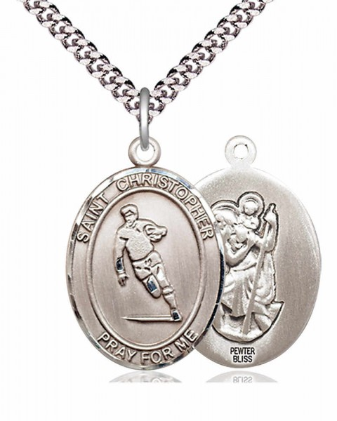 St. Christopher Rugby Medal - Pewter